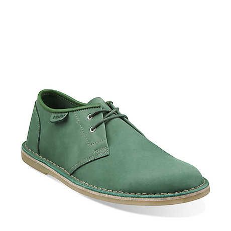 Jink in Green Nubuck - Mens Shoes from Clarks
