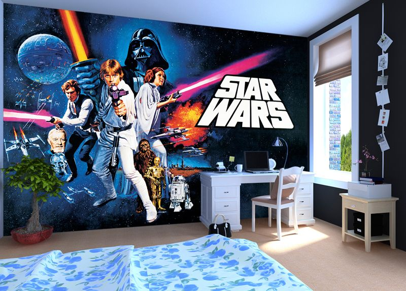 45 best star wars room ideas for 2016 star wars poster wall murals and wallpaper. Black Bedroom Furniture Sets. Home Design Ideas