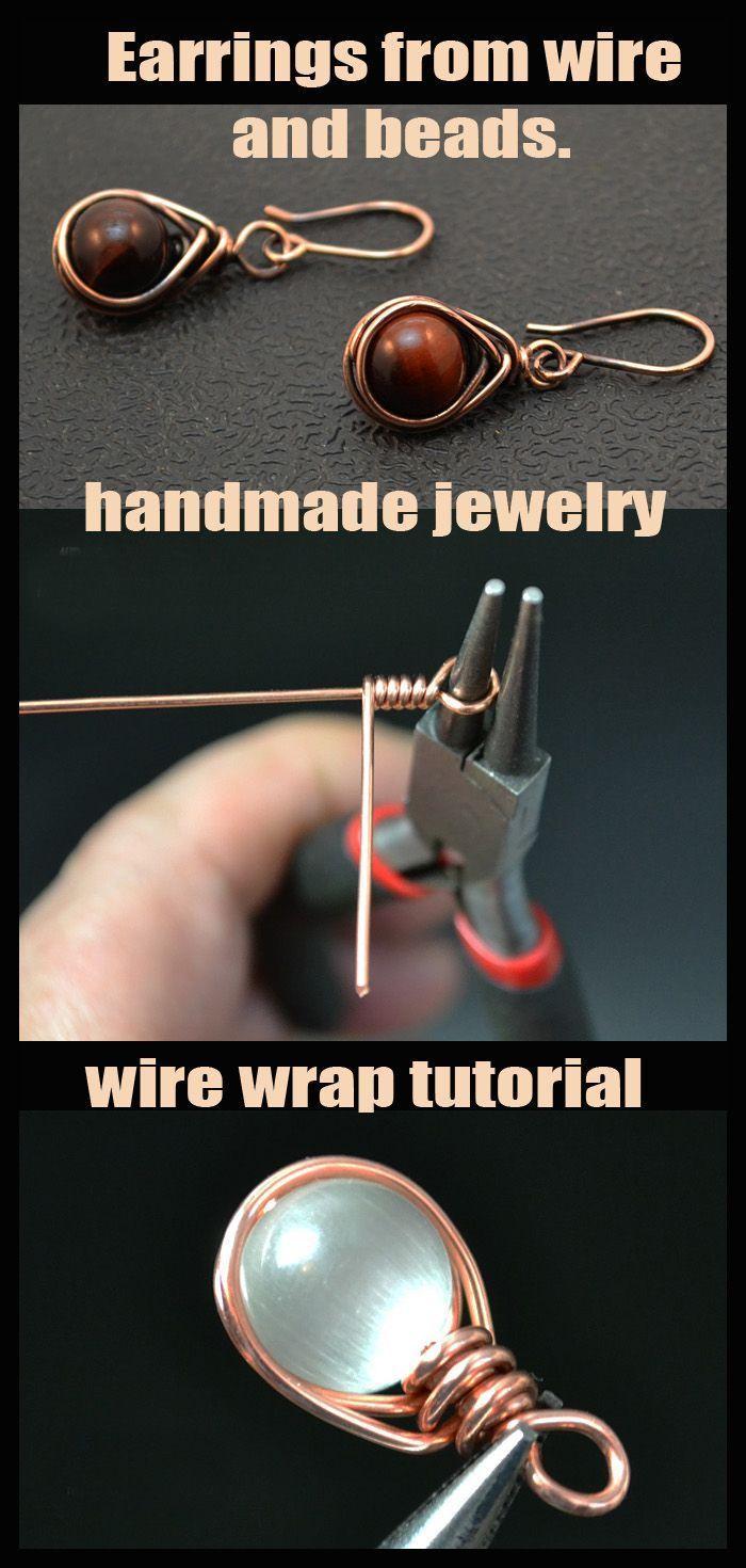 Photo of Wire Wrap Tutorial. Draht- und Perlenohrringe. – – # Perlen #beautifuljewelry …, #Beads #beaut …