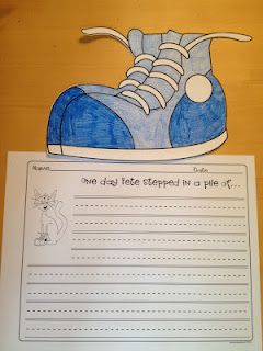 Pete The Cat- I love my white shoes-Freebie!!