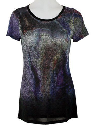 Cubism - Furitis, Short Sleeve Shear Top with Gradient Print