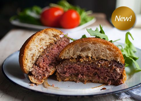 Free Range Bison Burgers 3 Patties Per 1 Lb Pack 100 Grass Fed Organic Grass Fed Beef Bison Recipes Healthy Meats