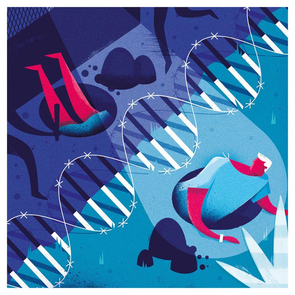 freelance illustrator dale edwin murray conceptual editorial genome magazine illustration