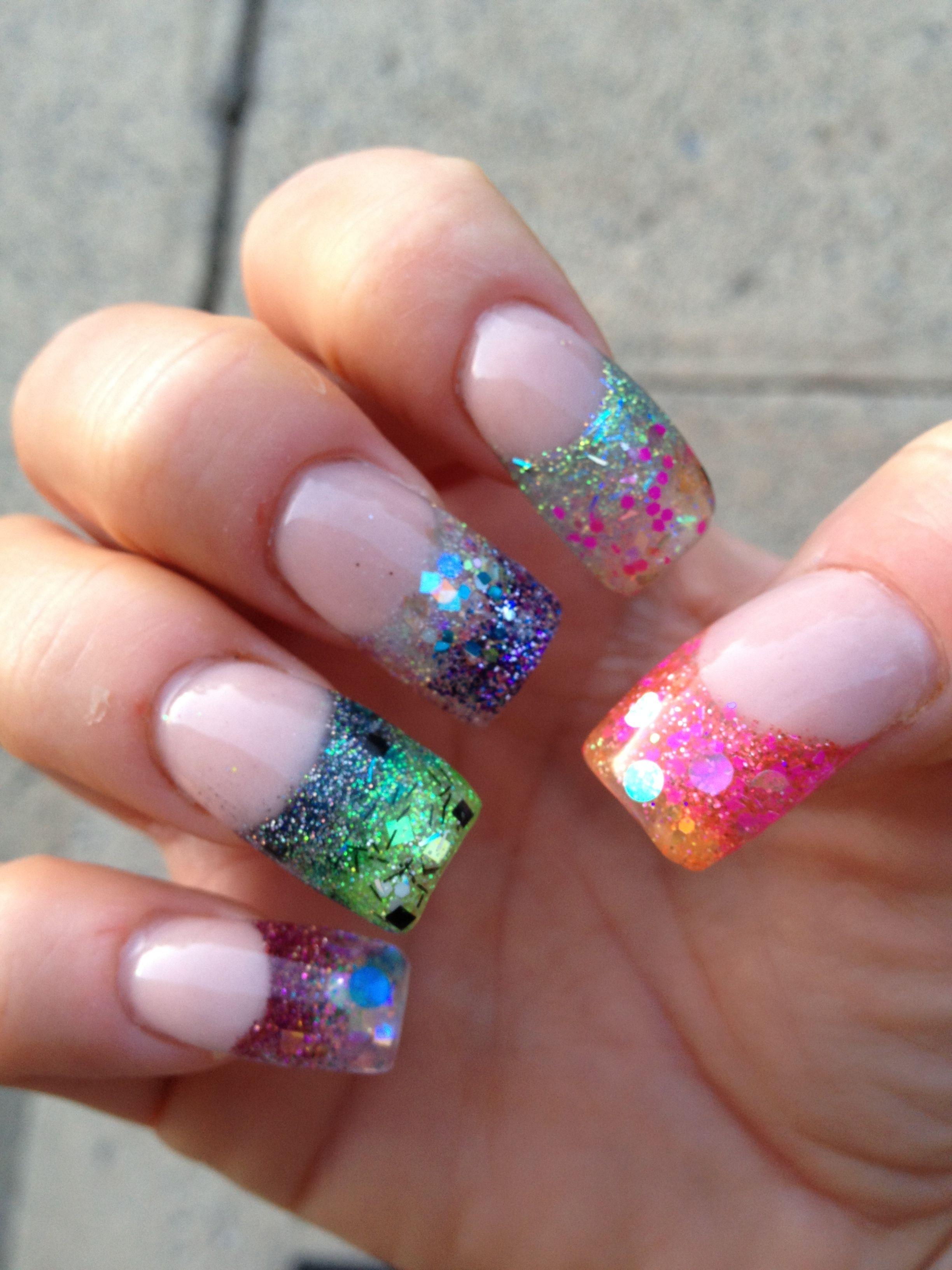 Sculpted colors acrylic nails | Sara\'s nail designs | Pinterest ...