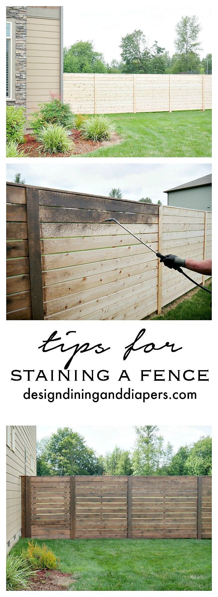 Awesome cheap privacy fencing privacy fence styles ideas home wood tips for staining a fence baanklon Gallery