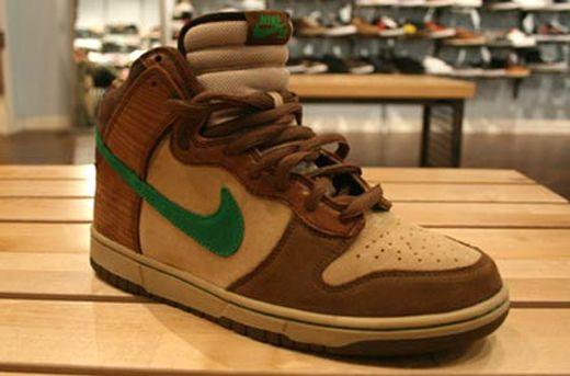 sports shoes 518ae 02933 Nike Dunk High SB Wood Deck - Tweed Classic Green