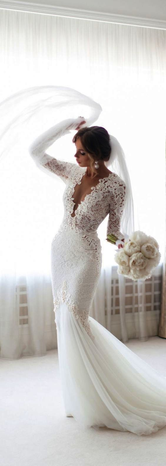 Lace wedding dress high neck lace wedding dresses korean lace