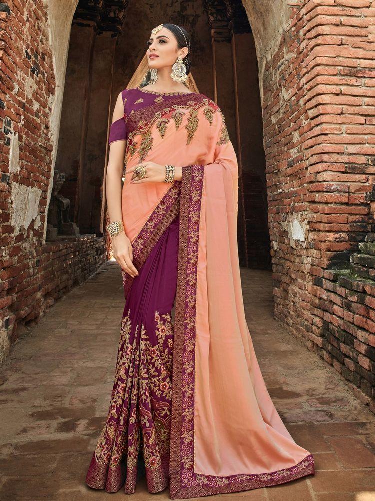 24fe48b796 Indian Designer Saree Sari Traditional Indian Ethnic Embroidered Bollywood  Party  NA  Sari