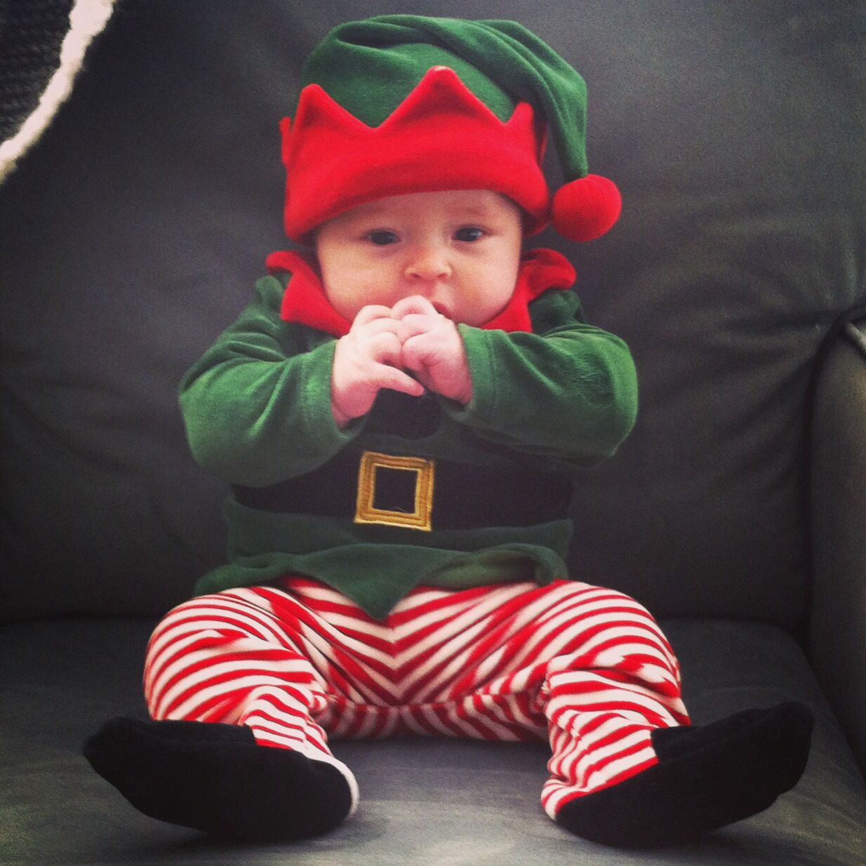Baby boy elf. Christmas elf outfit. Newborn. Aborable baby boy ...