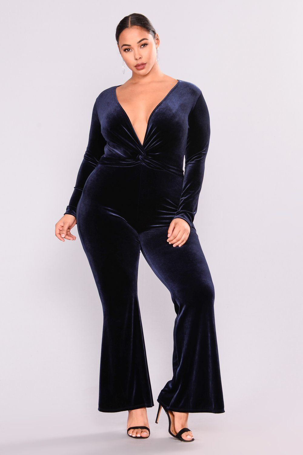 d08283ed9cec Jump In The Cadillac Velvet Jumpsuit - Navy