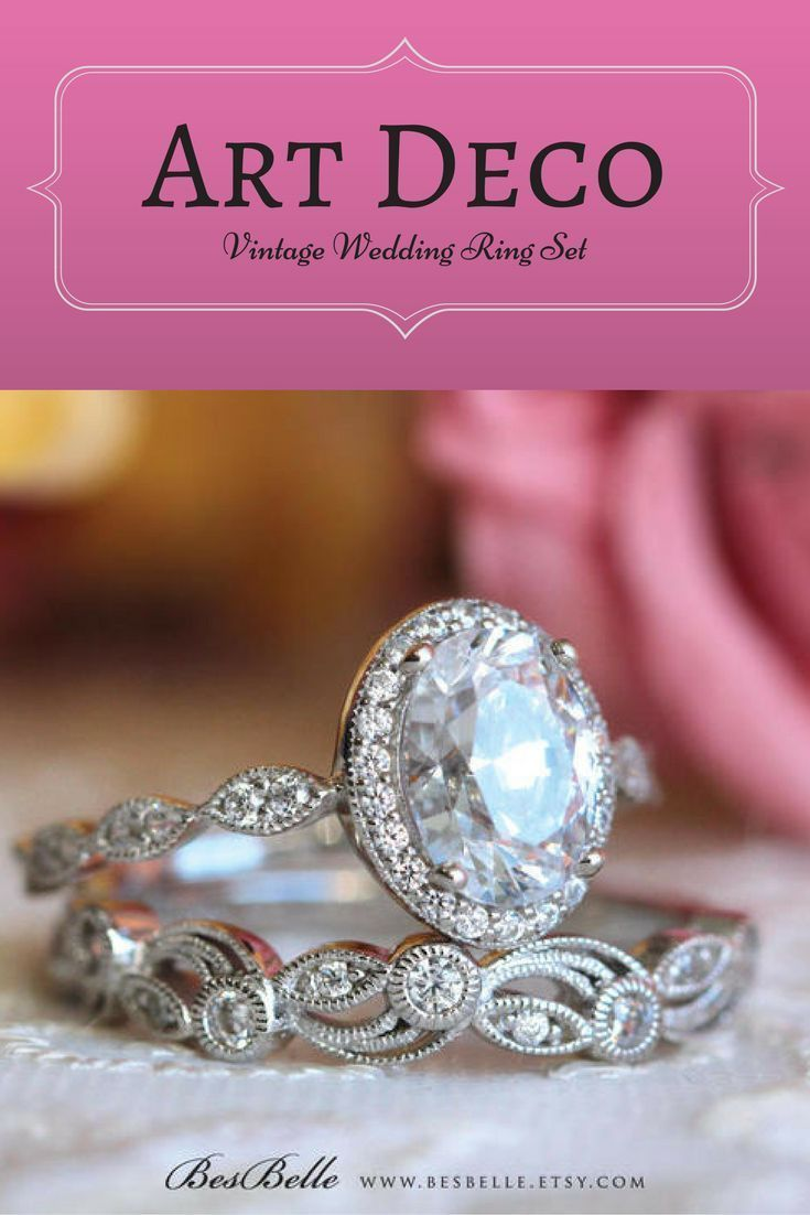 This engagement ring set looks very similar to mine but at a ...