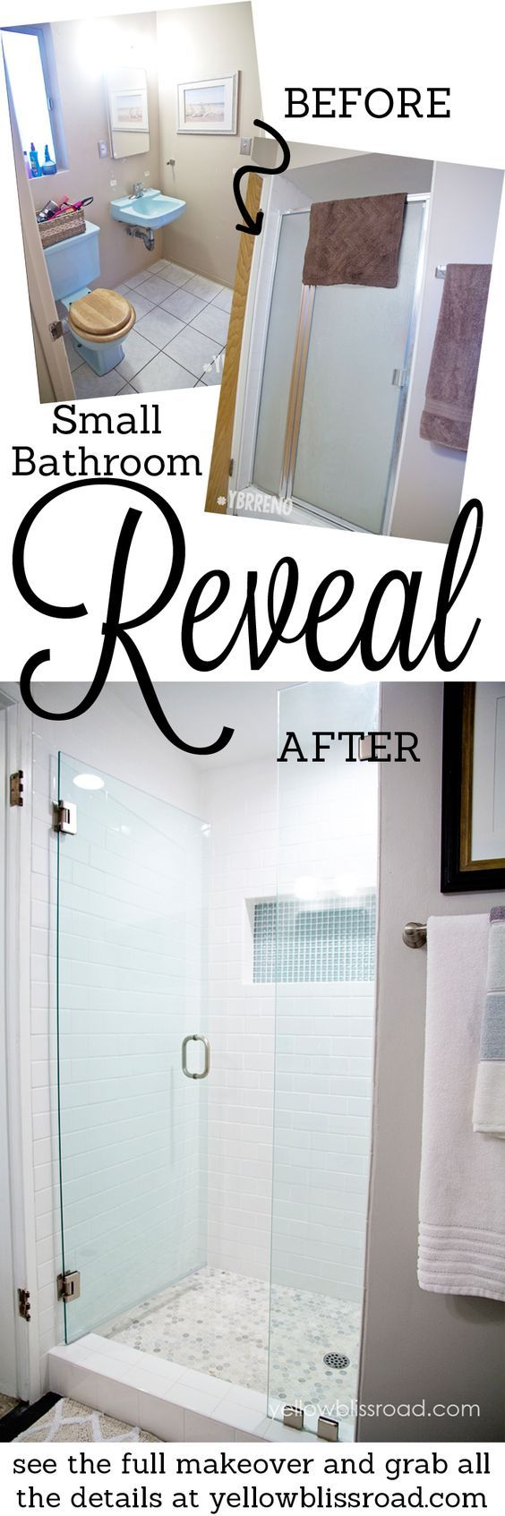Best Small Bathroom Makeover Reveal Small Bathroom Shower 400 x 300