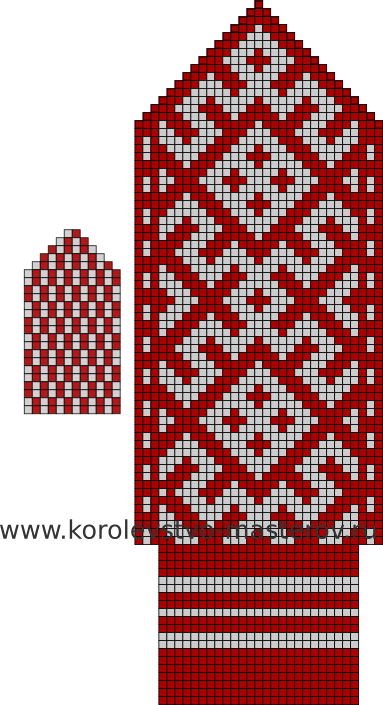 рисунок для вязания носков спицами схемы