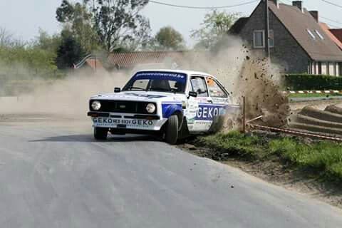 Ford Escort mk2 wrc racing, drift on rally