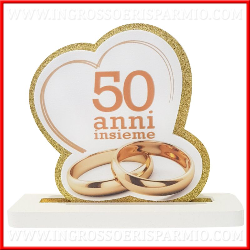 Sagoma Polistirolo Nozze Oro Con Stampa 50 Anni Insieme Ingrosso E Risparmio Nel 2020 Anniversario Nozze 50 Anniversario