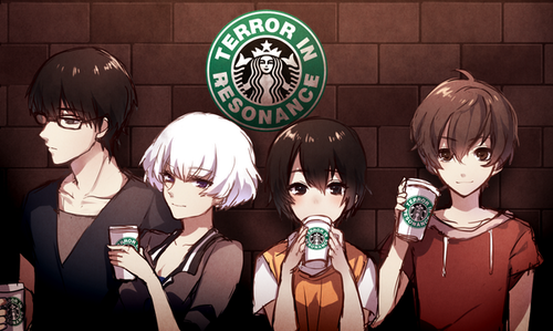 【 Terror in Resonance 残響のテロル 】 Nine, Five, Mishima Lisa, Twelve ; Coffee shop