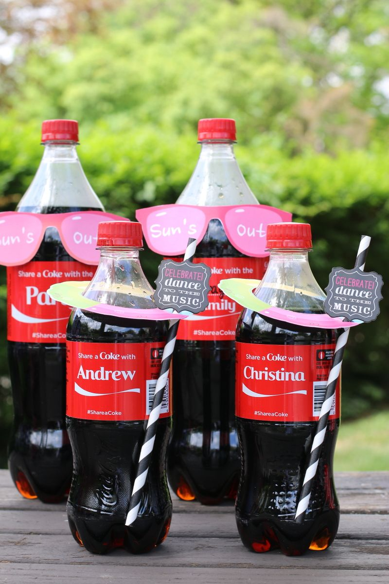 Free Printables: Pool Party invites that you can attach to @CocaCola ...