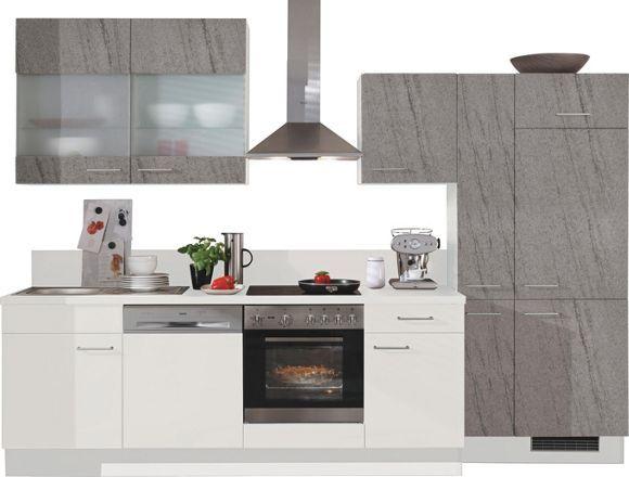 dieser k chenblock von fakta besticht durch seine moderne optik die fronten sind wei und. Black Bedroom Furniture Sets. Home Design Ideas