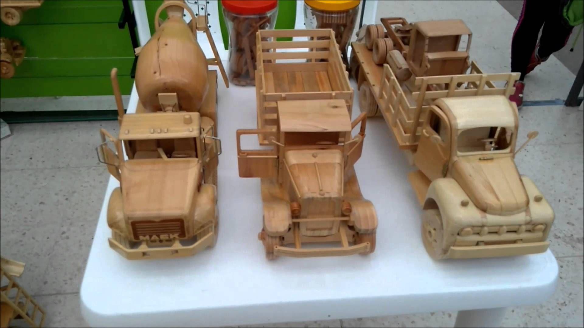 artesanÍas en madera (camiones, carros y mixer) parte 2