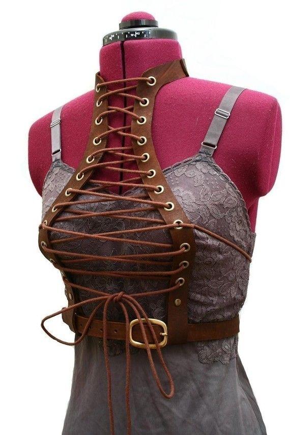 Bolero Lace Underbust Harness Vest Victorian By Audrajean On Etsy