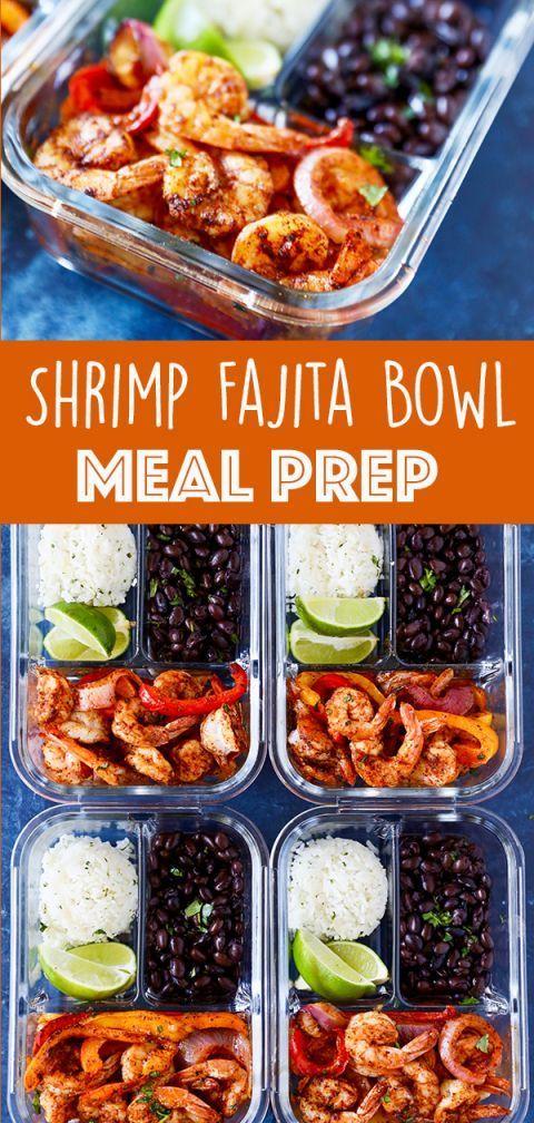 Easy Meal Prep Recipe Shrimp Fajita Bowls number2