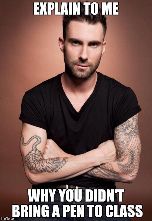 Adam Levine Tattoo Meme : levine, tattoo, Classroom, Memes