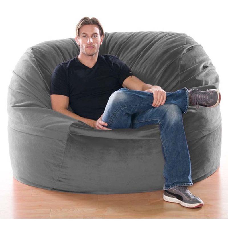 Jaxx Classic Saxx 5 Ft Foam Bean Bag Chair, Microsuede