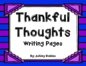 Writing pages for each month that students can write the things they are thankful for. It becomes a book at the end.