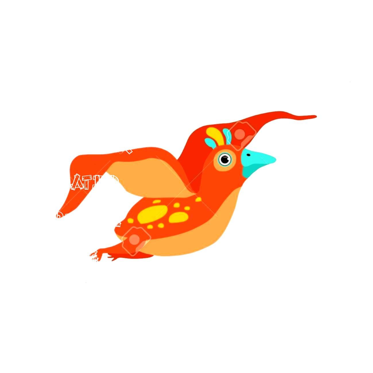 flying dinosaur funny baby dino cartoon character vector Illustration isolated on a white background Illustration Cute flying dinosaur funny baby dino cartoon character v...