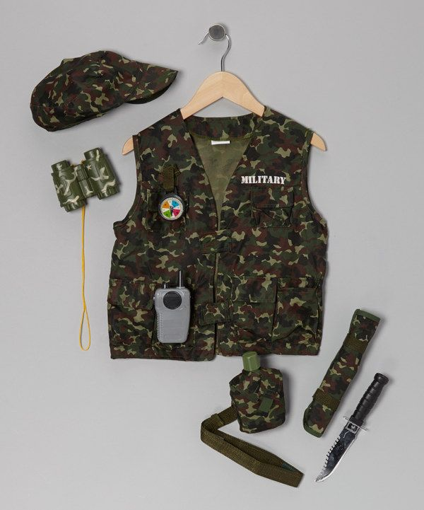 BOYS ARMY ASSAULT VEST BOYS GIRLS CLOTHING COSTUME DRESS UP SOLDIER FANCY DRESS