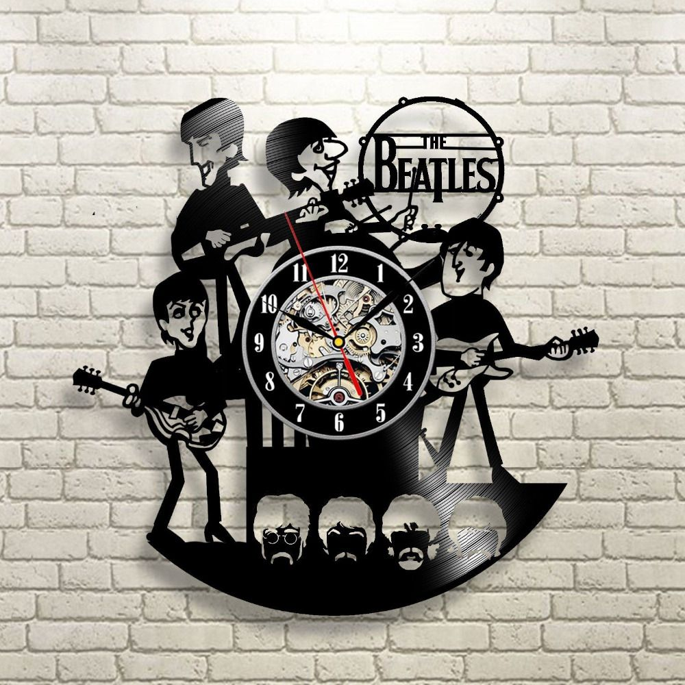 New Arrival Vinyl Record Wall Clock The Beatles Music