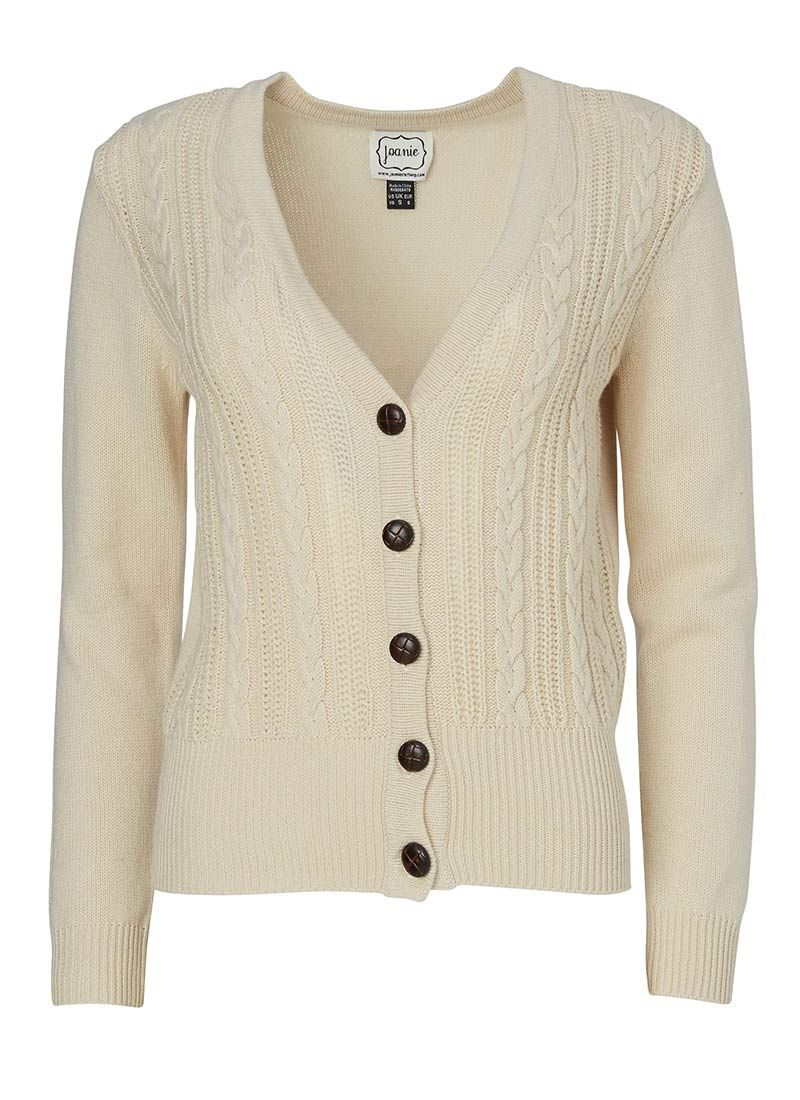 The Linda Cable Knit Cardigan is the perfect vintage-inspired ...