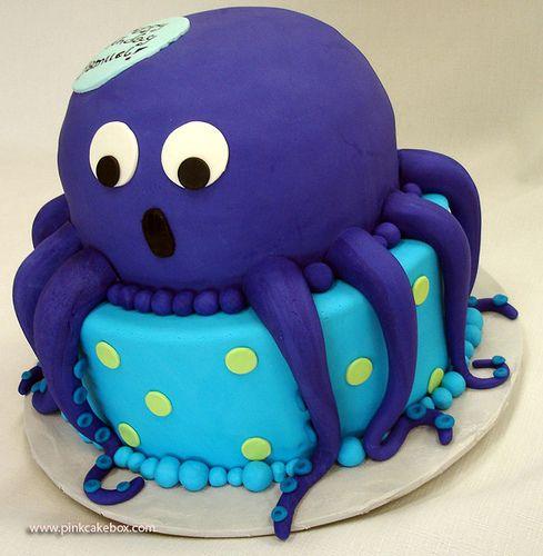 Fantastic Octopus Birthday Cake With Images Cute Birthday Cakes Octopus Funny Birthday Cards Online Inifodamsfinfo