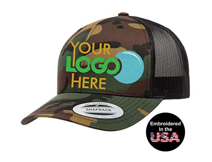 9fcb1e72e9b Custom Trucker Hat. Yupoong. Embroidered. Your Own Logo Curved Bill Snapback.  Review