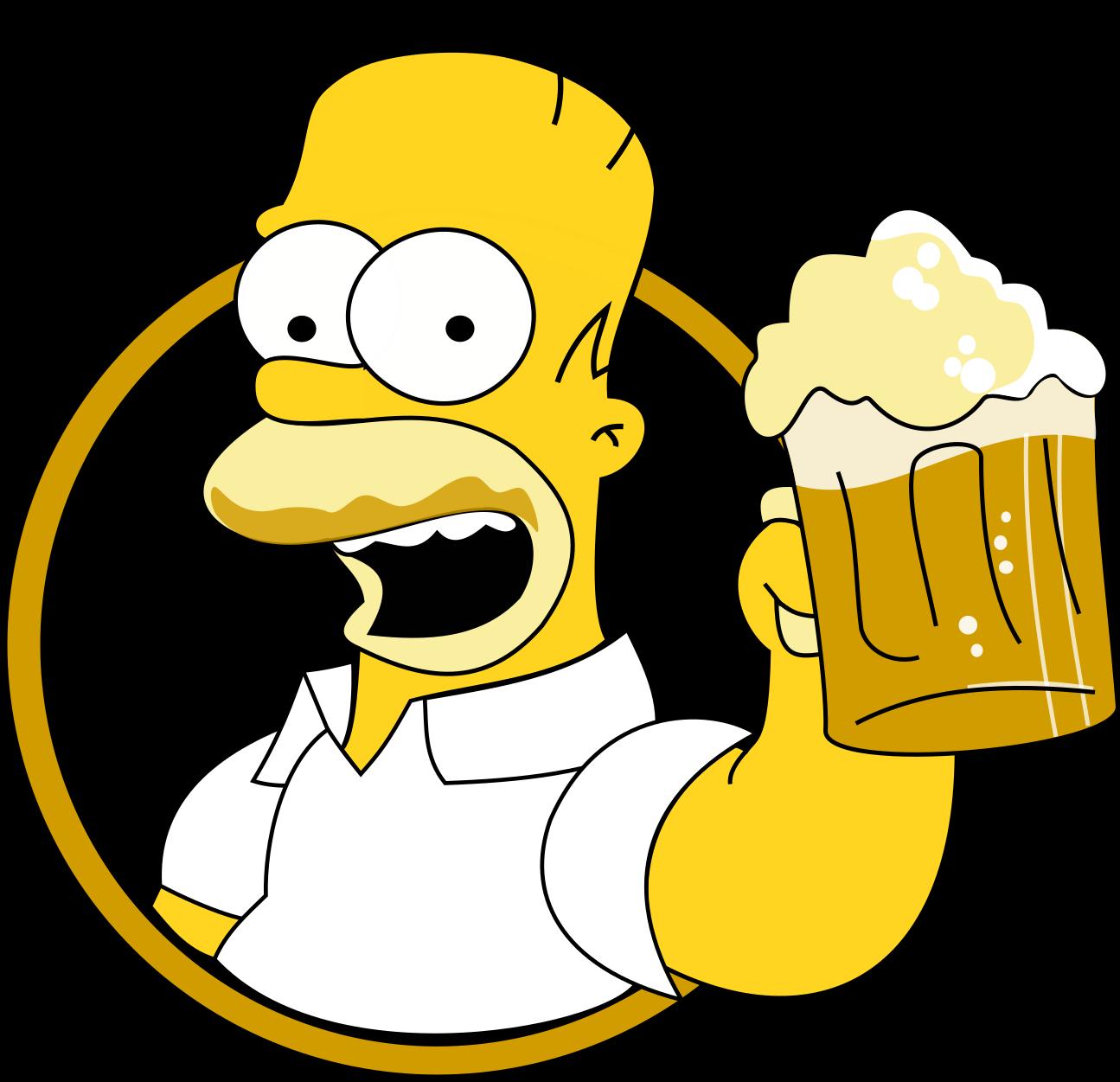 Гомер из симпсонов картинки с бутылкой