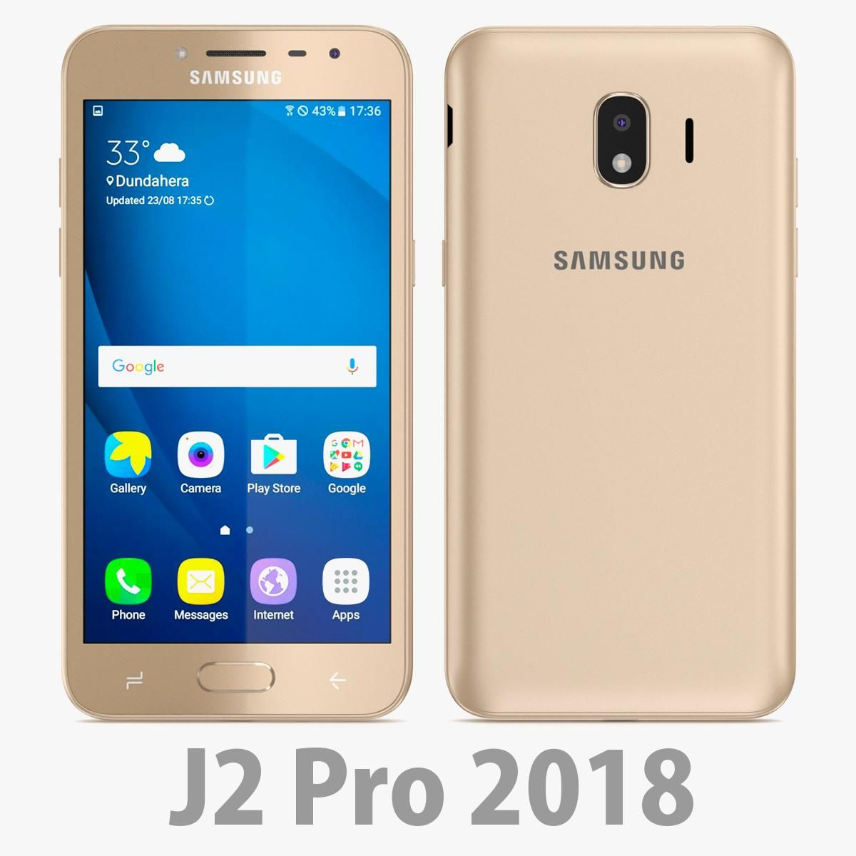 Samsung Galaxy J2 Pro 2018 Gold 3d Model Ad Galaxy Samsung Pro Model Samsung Galaxy Galaxy Samsung