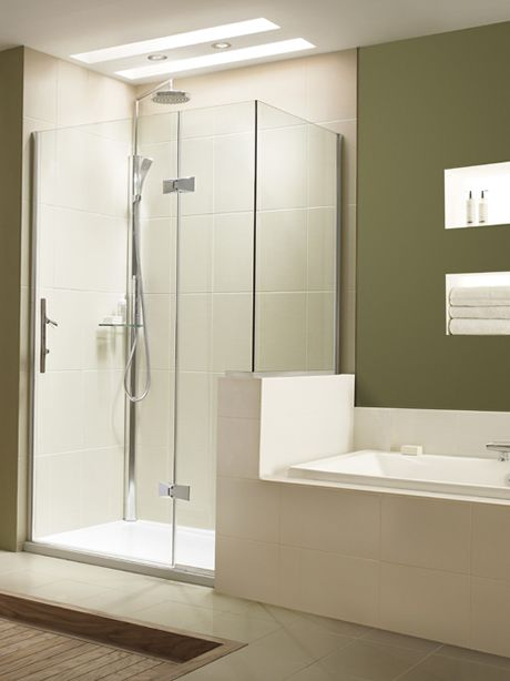 Dwarf wall shower enclosure | bathroom | Pinterest | Shower ...