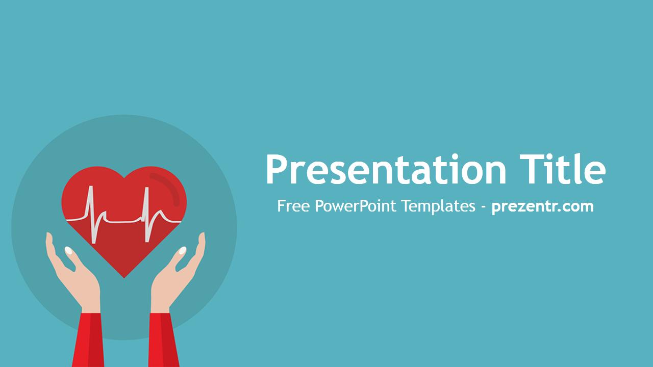 Free Heart Rhythm PowerPoint Template - Prezentr PowerPoint ...