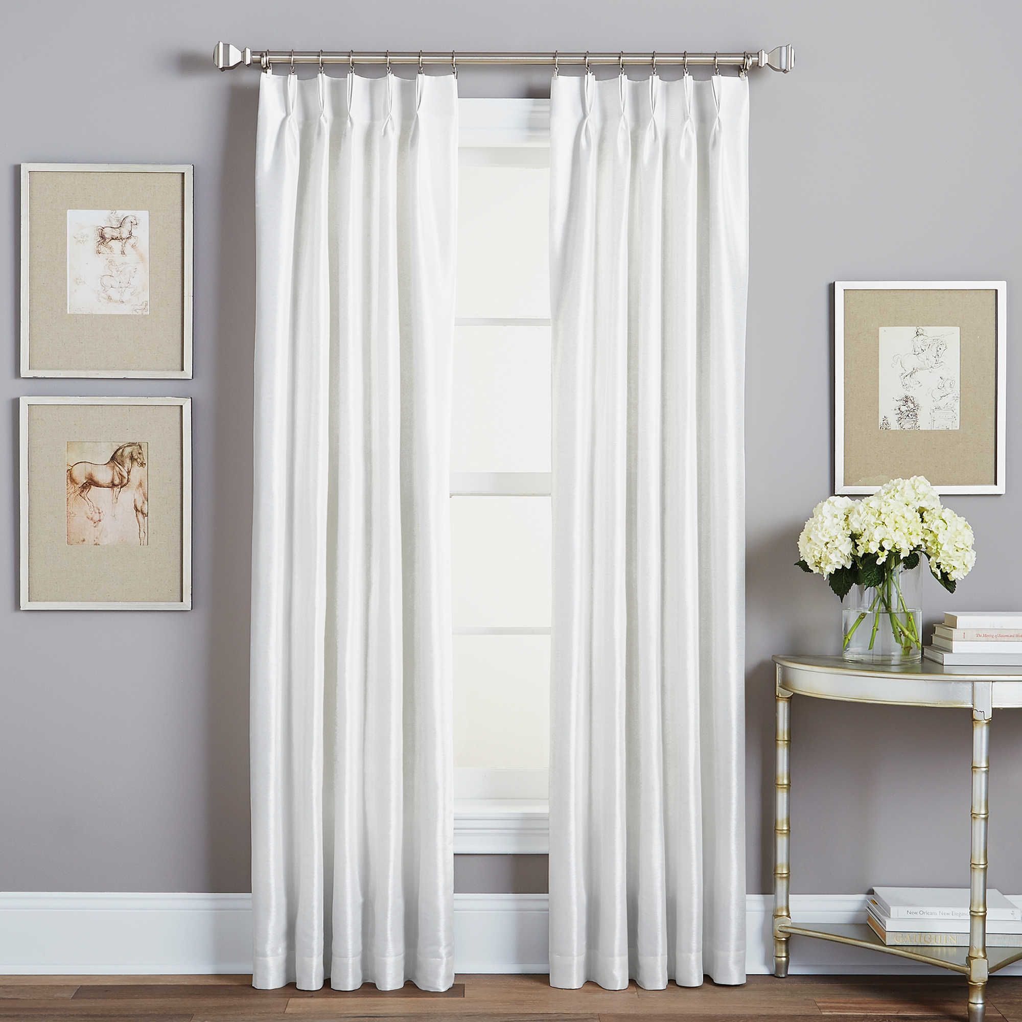 Spellbound Pinch-Pleat 84-Inch Rod Pocket Lined Window Curtain Panel ...