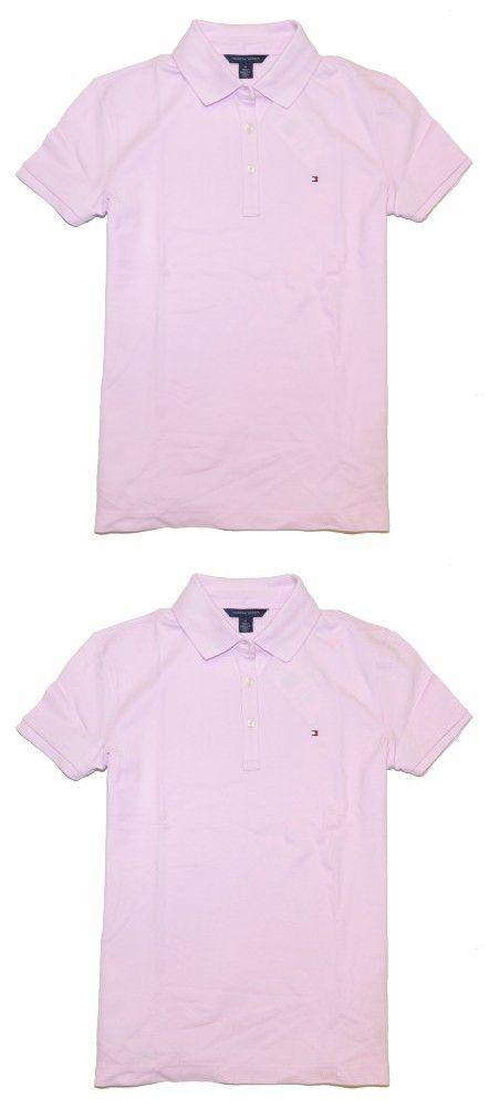 6bbc3bc7 Tommy Hilfiger Women Classic Fit Logo Polo T-Shirt (XL, Liliac) in ...