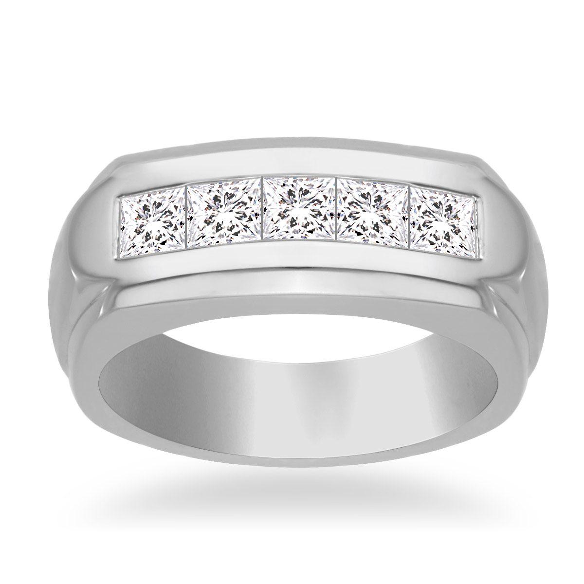 14k White Gold Channel Set Men S Diamond Band 1 00 Cttw Mens Diamond Rings Information Stoc Mens Diamond Band Mens Rings Wedding Diamond Men Diamond Ring
