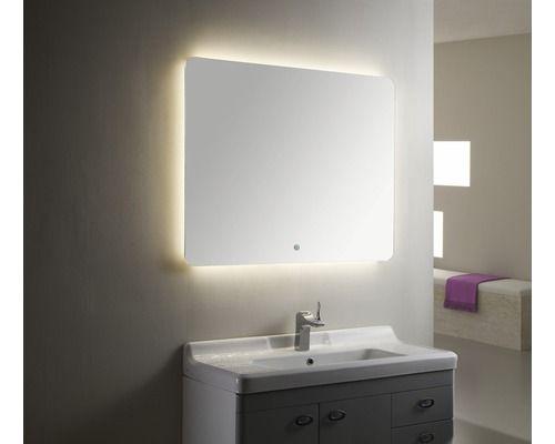 Design LED Lichtspiegel DSK Silver Moon 80x120 cm bei HORNBACH - badezimmerspiegel mit licht