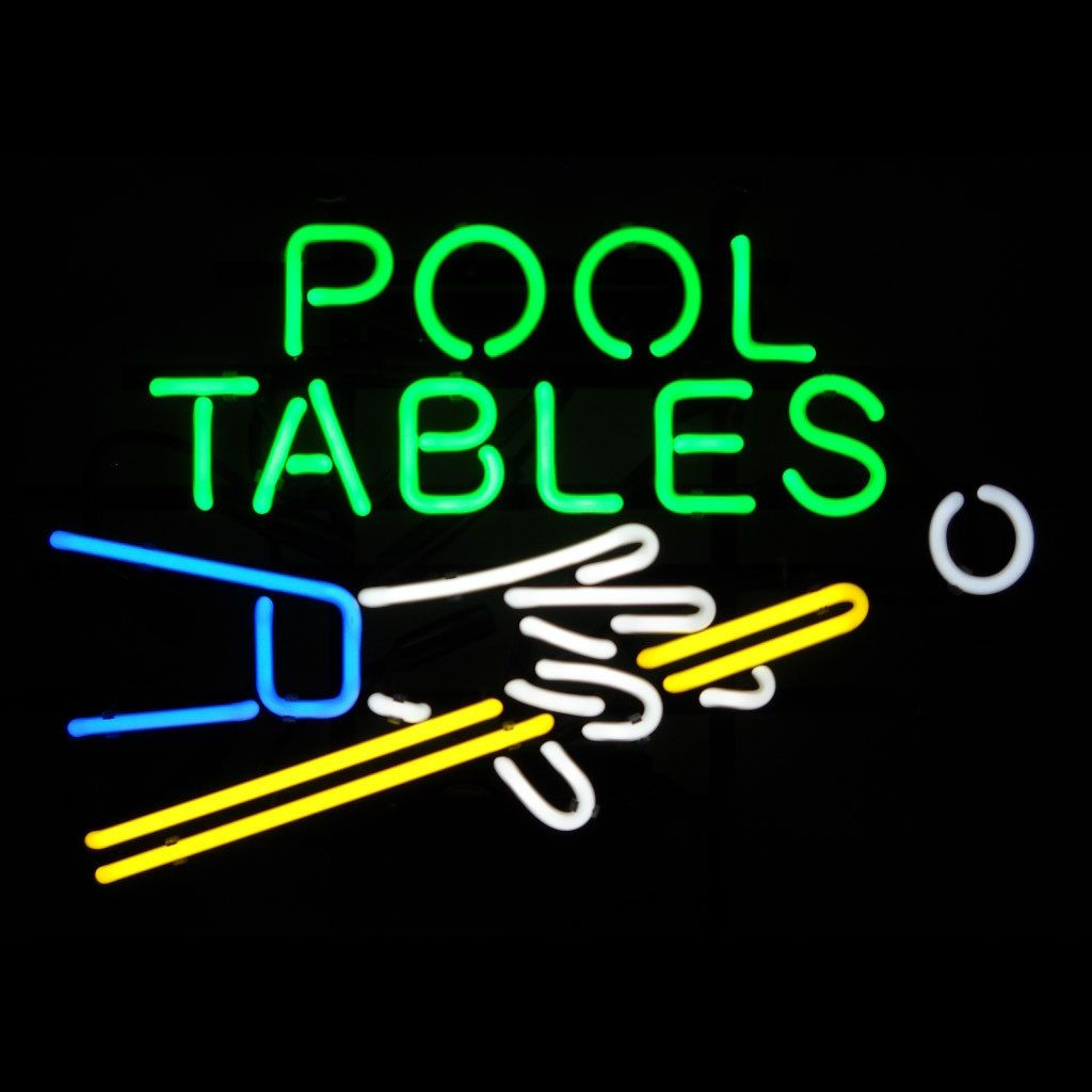 Pool Tables Neon Sign Inch Width NeonSignsNowcom Bar Signs - Neon pool table