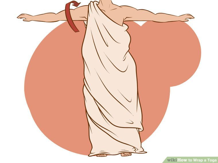 5 Ways to Wrap a Toga - wikiHow | A Force of Nature | Pinterest