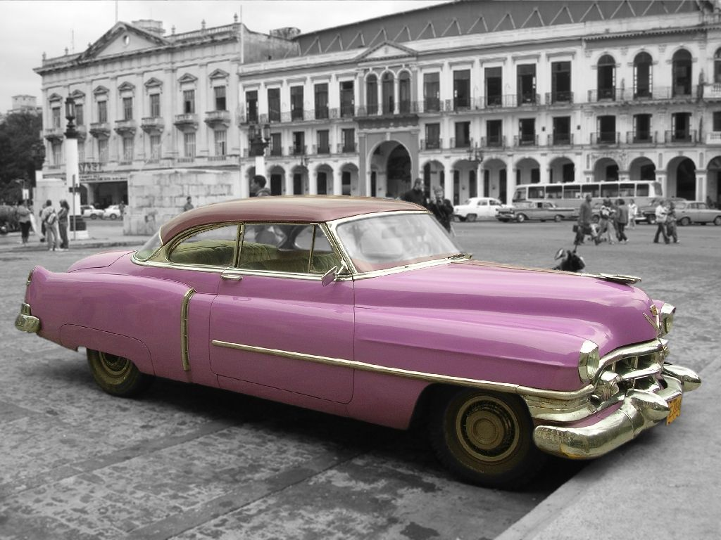 Fashioned Old Vintage Car | cars-car-picture-pink-classic-cuba ...