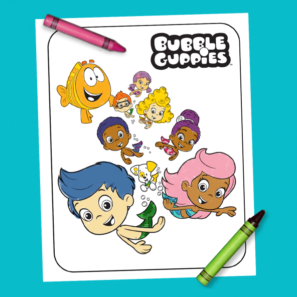 Bubble Guppies Coloring Sheet in 2020 (With images