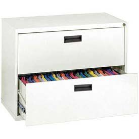 """Amazon.com: Lateral File, 2-Drawer, 30w"""" X 18d"""" X 26-5/8h"""", Standard White: Office Products"""
