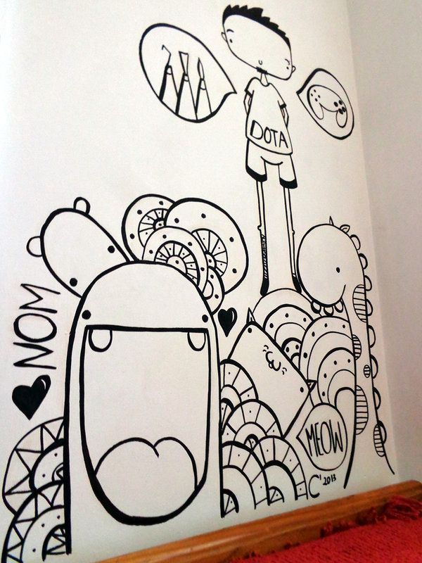 Wall Doodle by SneakyPictures.deviantart.com on ...