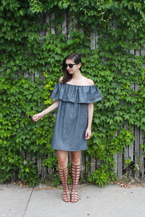 c4f0b04c083a tutorial: how to make a ruffle off the shoulder dress | DIY fashion ...