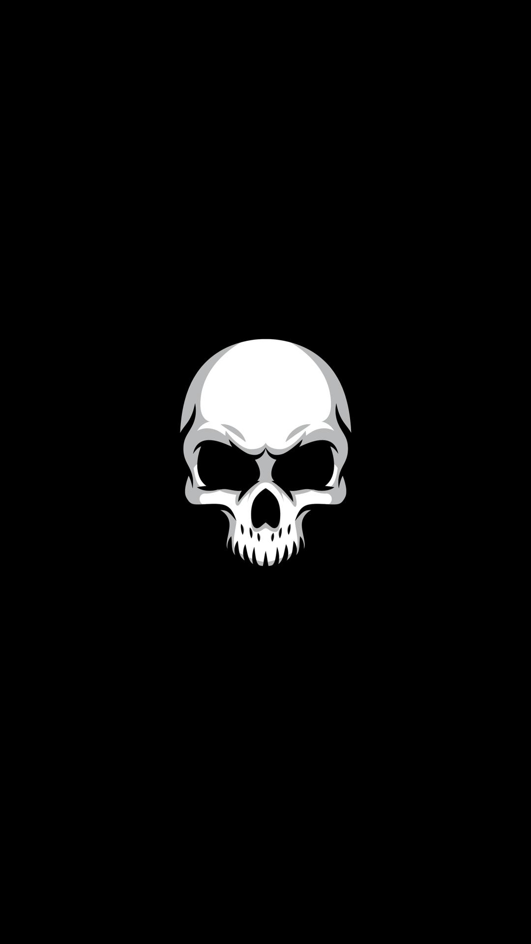 White Skull Minimal Art Skull Skull Artwork Art Wallpaper